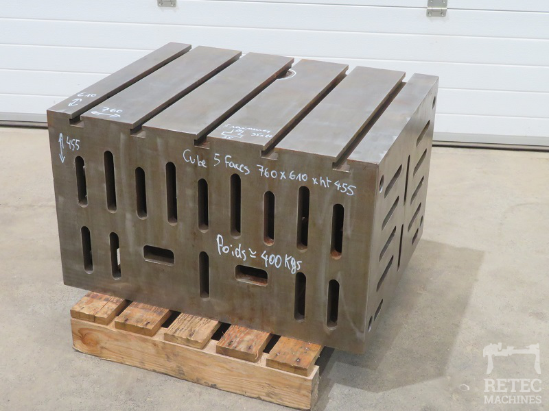 Cast iron clamping cube 5 sides 760 x 610 x 455 mm