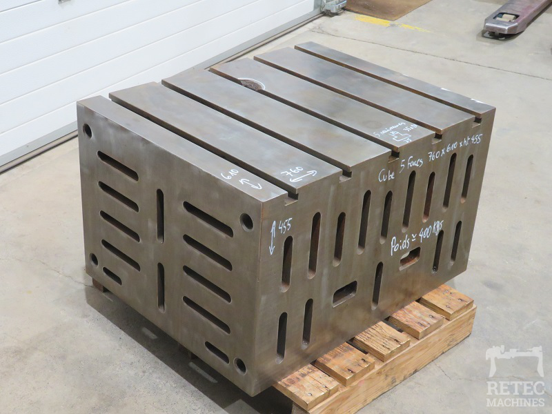 Cube de bridage en fonte 5 faces 760 x 610 x 455 mm