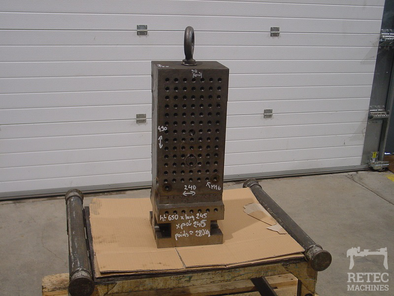 Steel clamping cube 650 x 245 x 245 mm