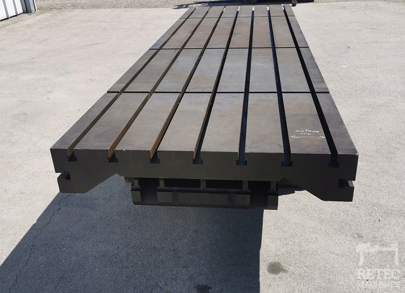 Table rainurée inclinable sinus 3500 x 1120 x 600 mm